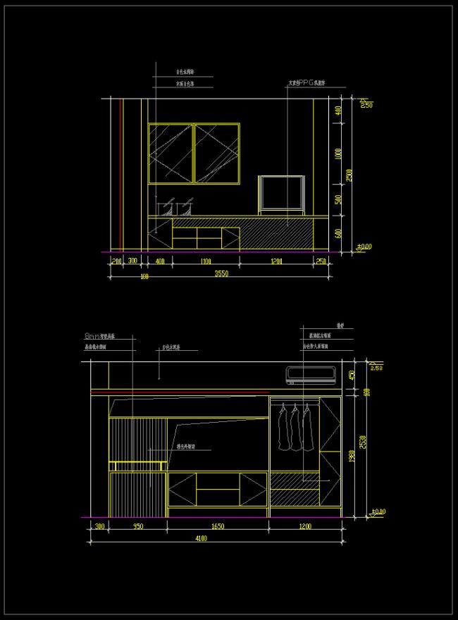室内设计 cad图库 cad图纸 > 大卧室立面装修方案cad  下一张&