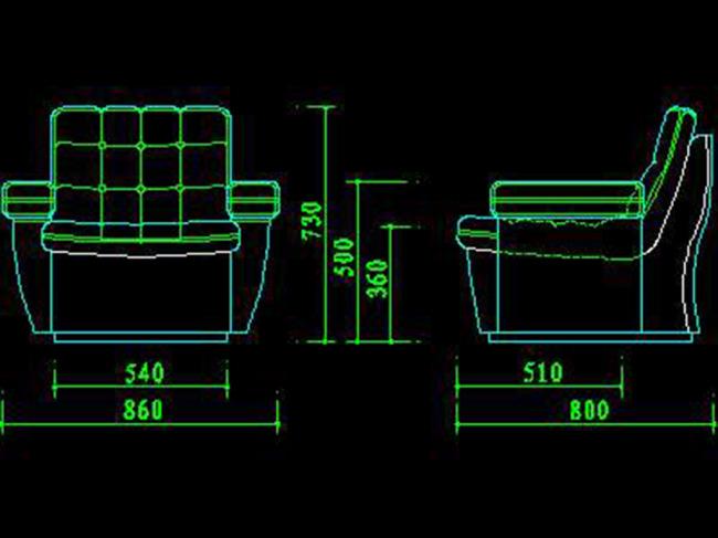 家具沙发cad图纸模板下载(图片编号:12187269)