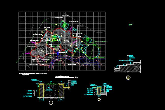 室内设计 cad图库 公园景观cad施工图 > 住宅小区cad景观图纸  下一张
