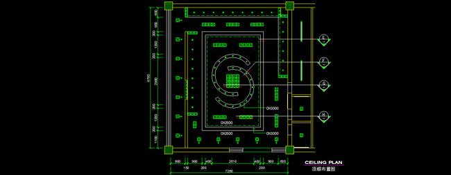 天花cad图纸设计附带施工材质说明