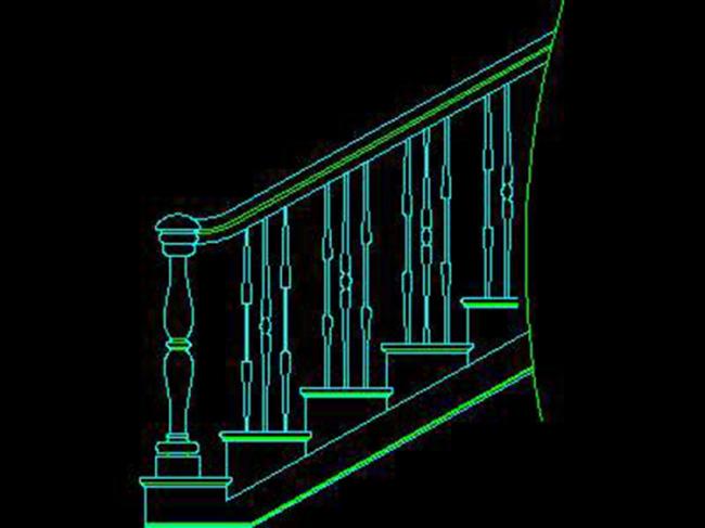 楼梯立面图cad图纸