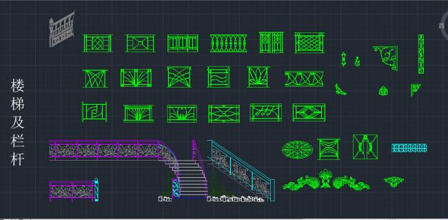 楼梯玻璃护栏木质扶手剖面图