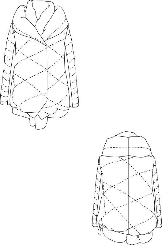 羽绒服设计款式图