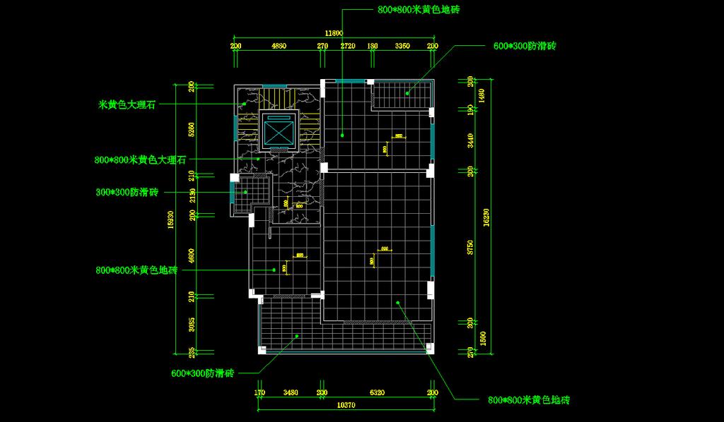 室内设计 cad图库 家装施工cad图纸 > 别墅地面铺贴图  下一张&