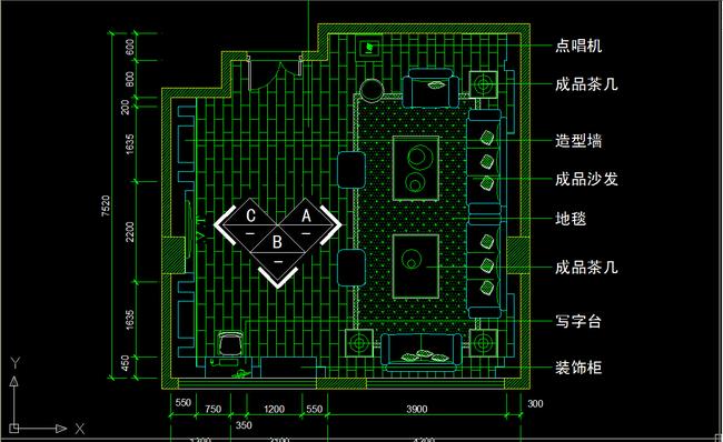 ktv包房设计图纸cad立面详图下载