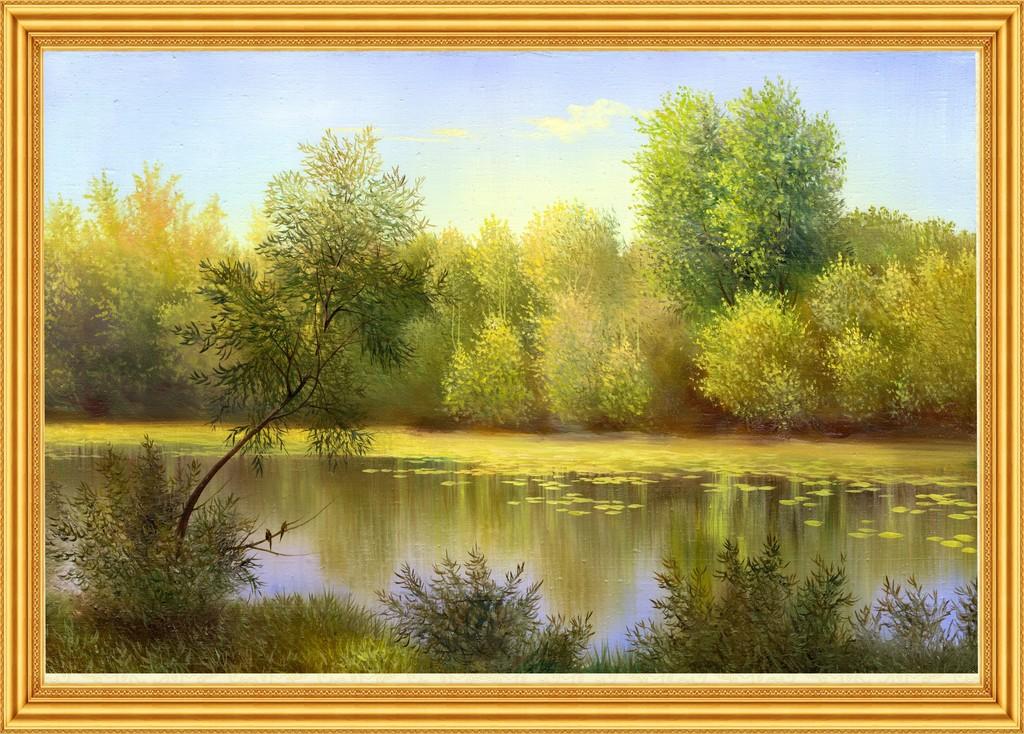 风景油画油画油画风景画装饰画