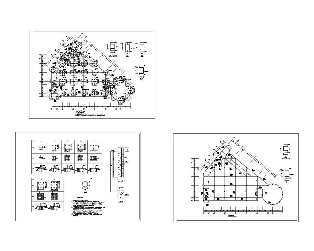 某小区会所设计结构建筑施工图cad图纸设计下载