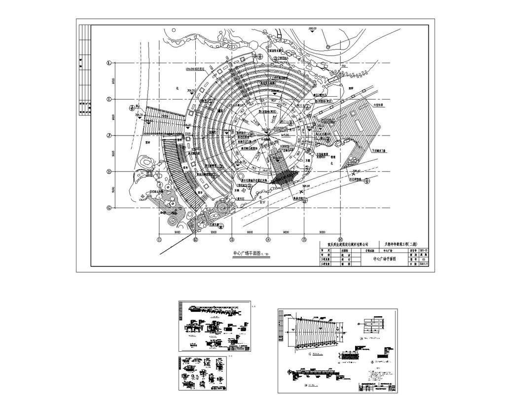 小区整套景观设计cad图纸设计下载