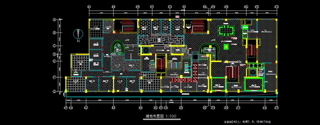 茶馆cad图纸设计附带施工材质说明模板下载(图片编号