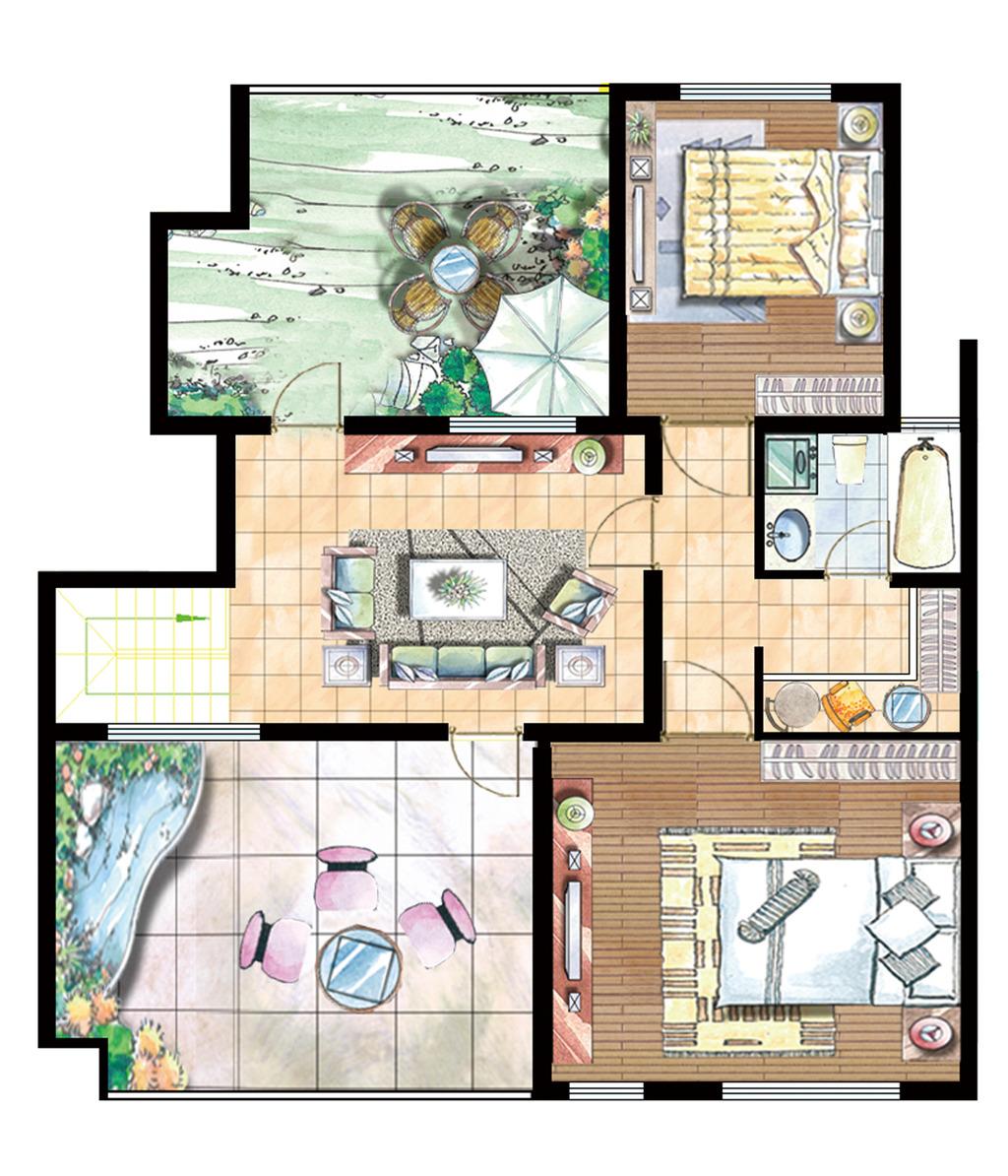 室内平面图下载室内效果图下载分层psd
