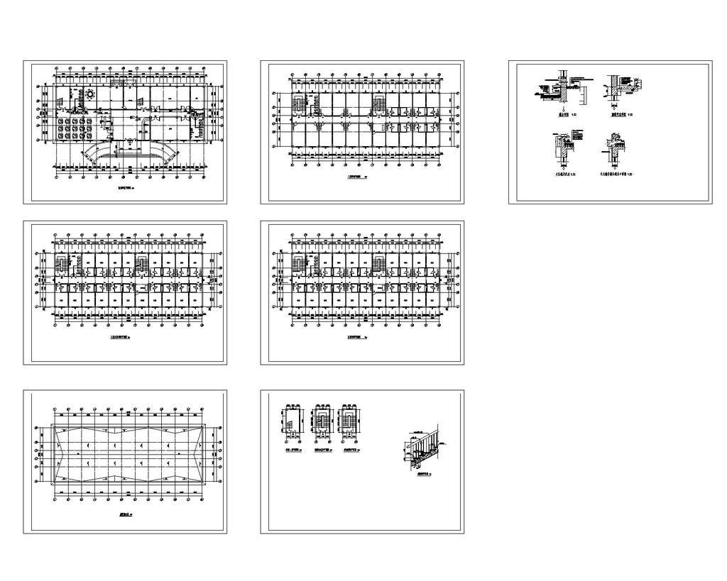 宾馆毕业设计cad图纸设计下载