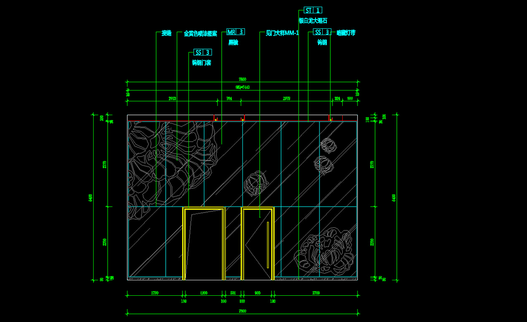 cad立面厨房设计图