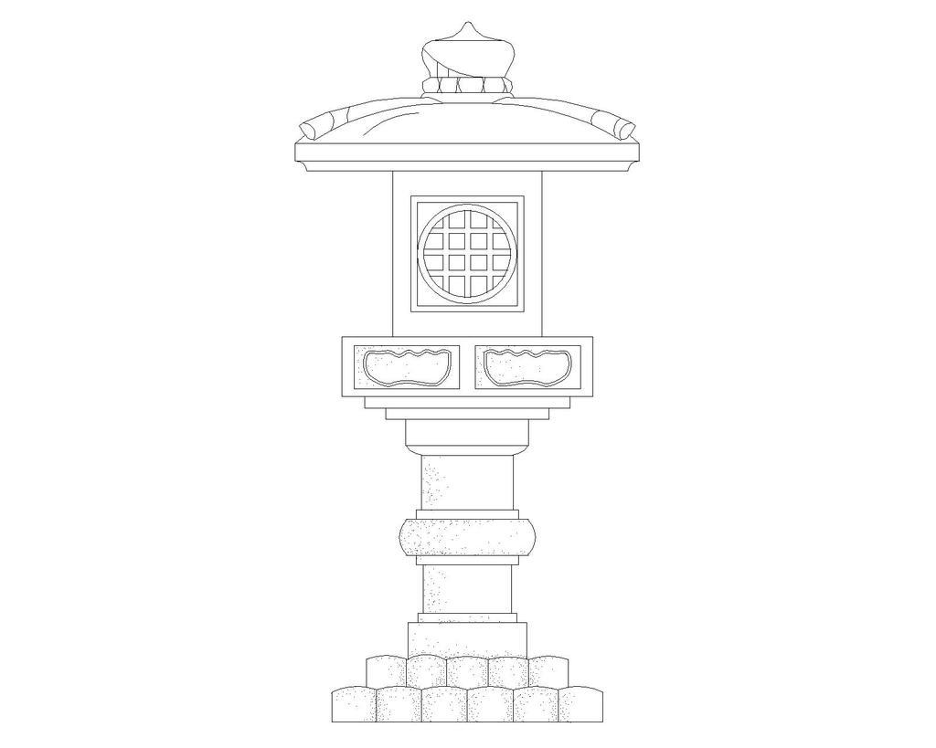 常用图块-雕塑cad图纸设计下载
