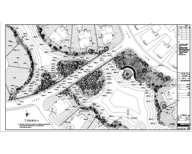 高级住宅区cad景观施工图