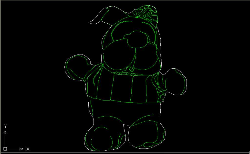 cad 玩具/[版权图片]玩具玩偶CAD立面CAD图纸
