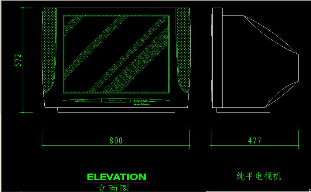 室内设计 cad图库 电气cad图纸 > cad纯平电视机图块  下一张&g