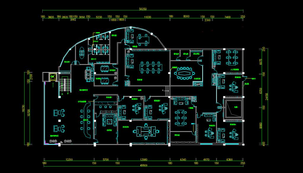 cad图库 工装施工cad图纸 (1024x586)-办公室设计 其它cad办公