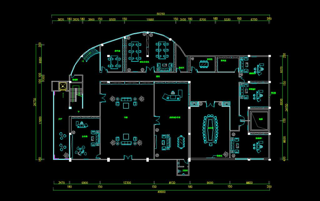 办公楼平面布置图