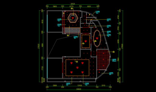 办公室cad吊顶平面图模板下载(图片编号:12195435)_图