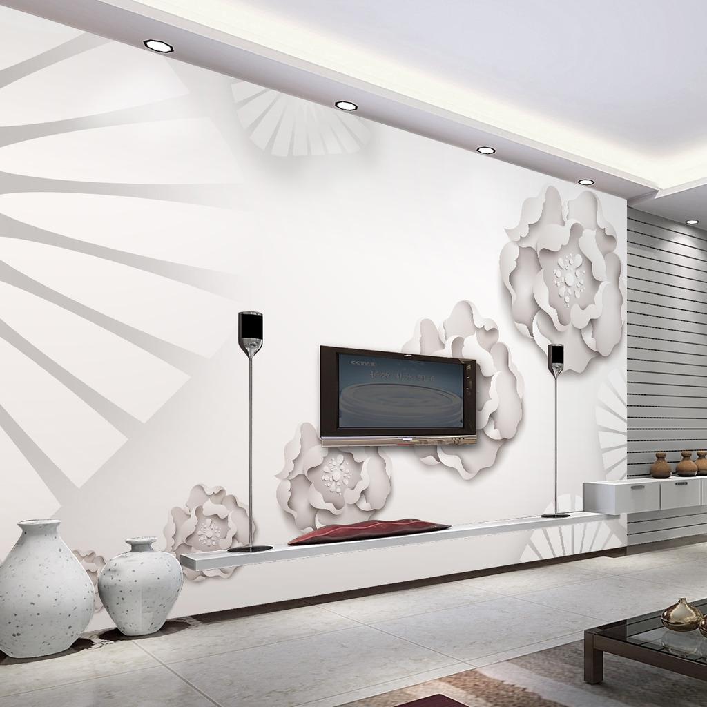 3d浮雕客厅电视沙发背景墙