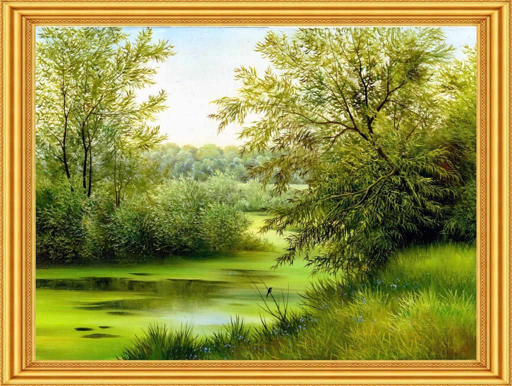 风景油画油画油画风景画