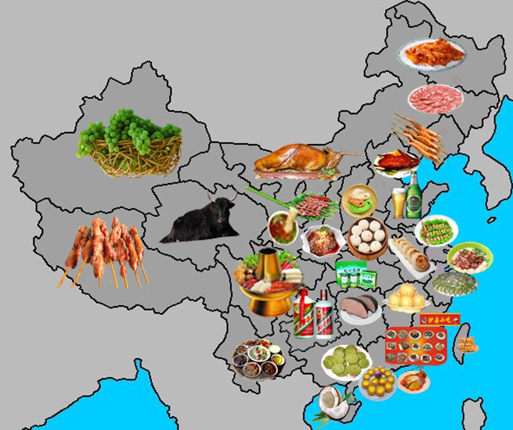 美食 美食版图 版图 中国地图 全国各地美食 各地美食 美食与版图