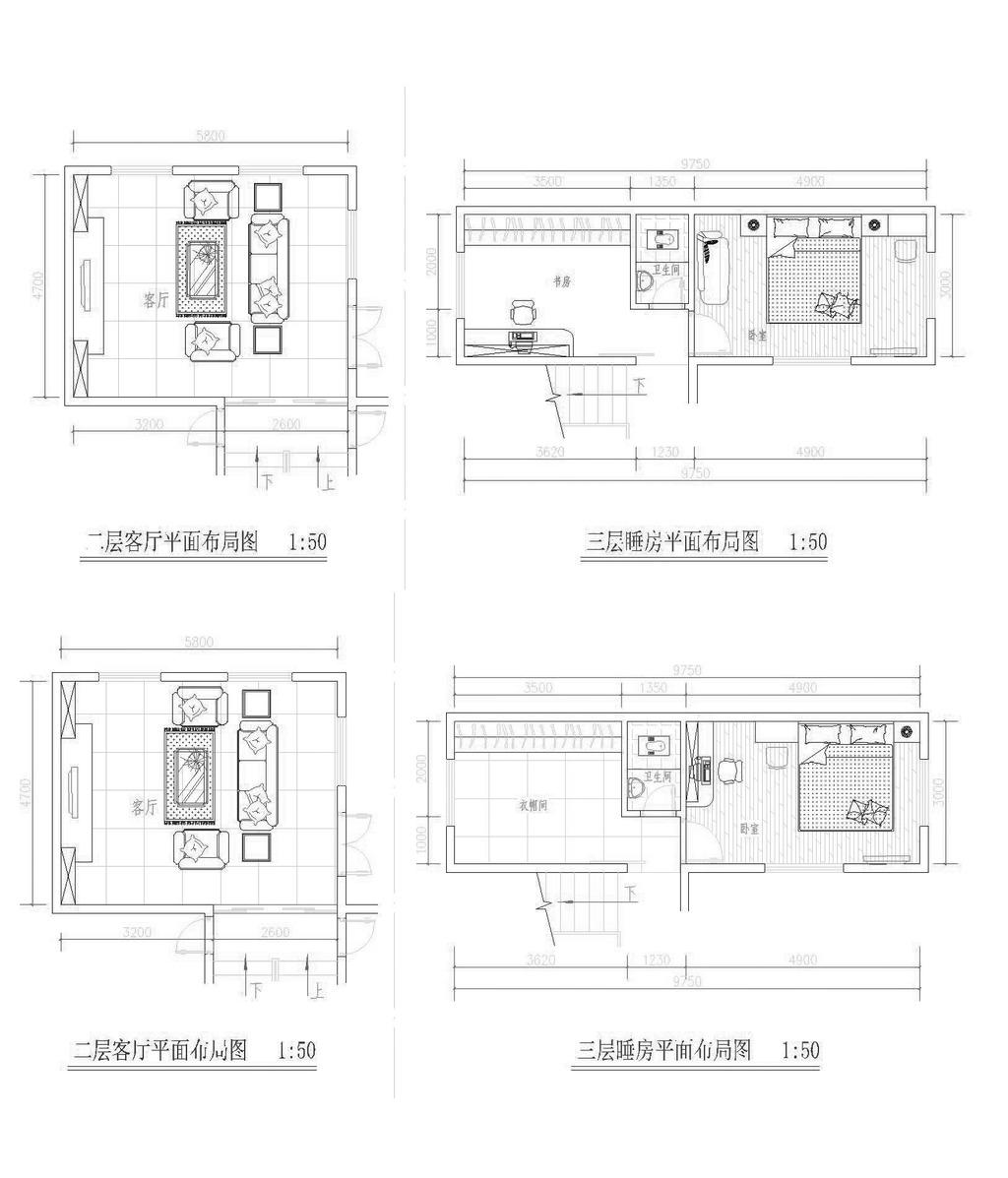 成套别墅施工图