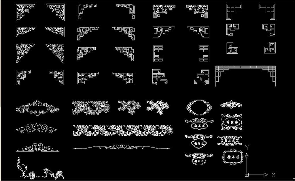 cad中式雕花构件合集模板下载 cad中式雕花构件合集图片下载