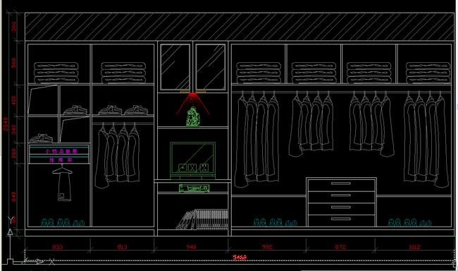 cad衣柜立面图纸衣柜内部结构图