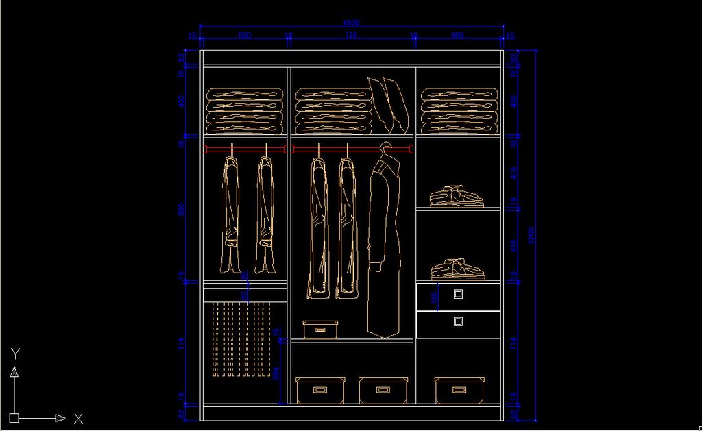 衣柜cad立面图下载