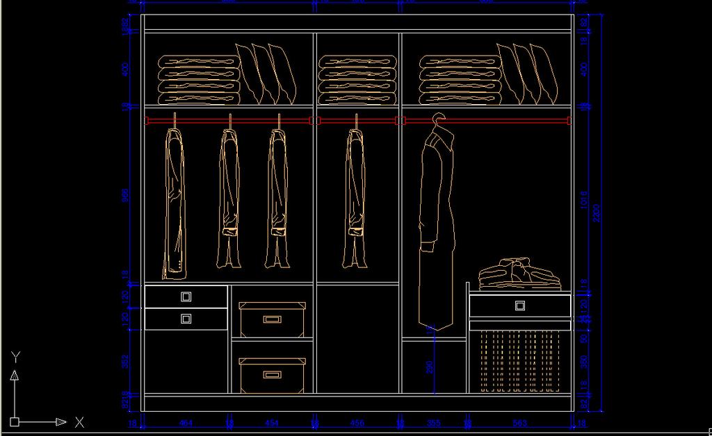 cad衣柜立面图下载