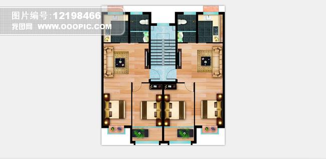 室内设计彩平图