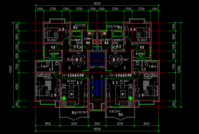 载住宅钢结构图纸实例