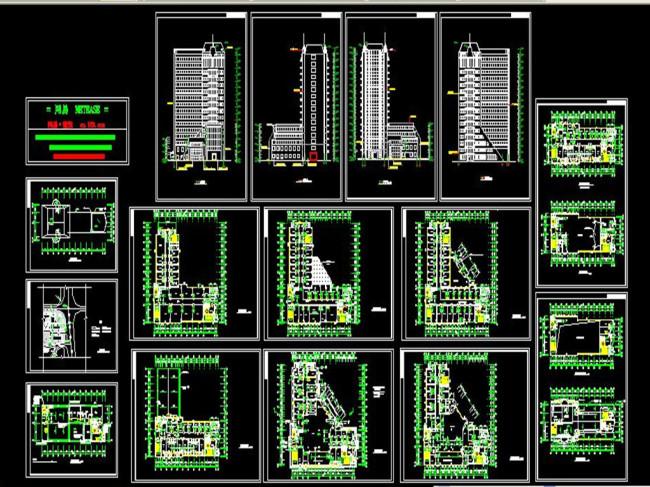 室内设计 cad图库 cad图纸 > 医院全套设计方案图cad图纸  下一张&