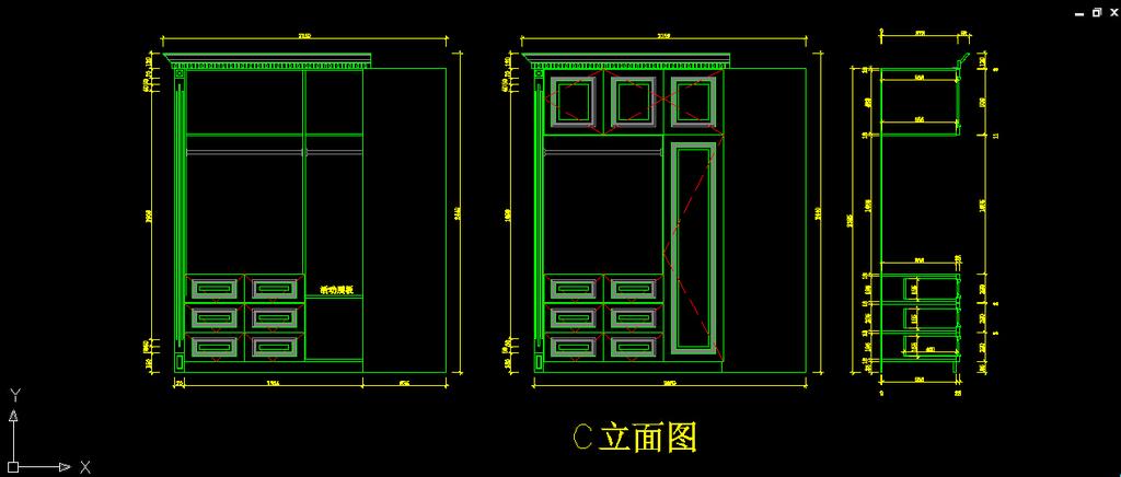 别墅家装卧室衣帽间衣柜整体风格设计下载