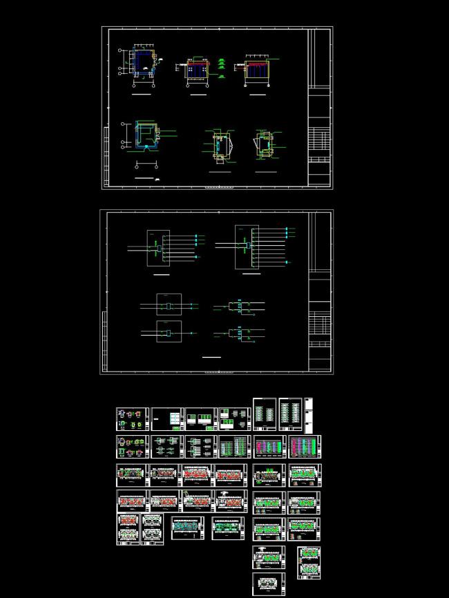 高层住宅电气设计cad图纸