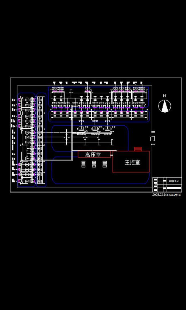 220kv变电站cad设计图