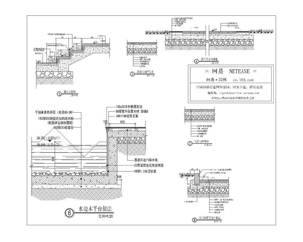 室内设计 cad图库 cad图纸 > 各种地面铺装的大样cad图纸设计下载