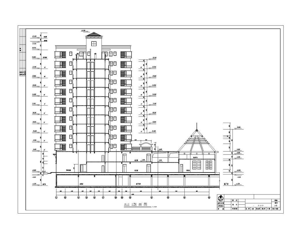 小区全套建筑施工图cad图纸设计下载