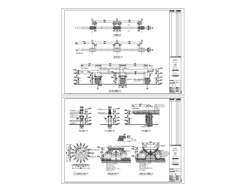 室内设计 cad图库 公园景观cad施工图 > 景观设计施工图cad图纸设计