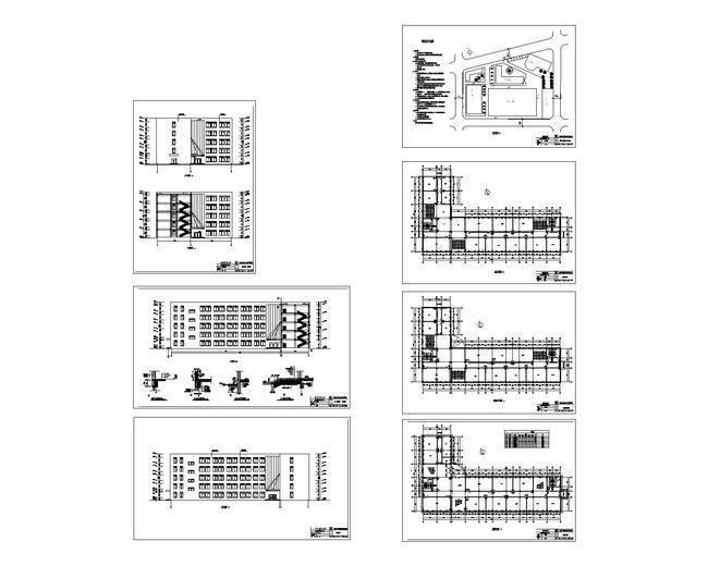 教学楼全套设计图纸展示