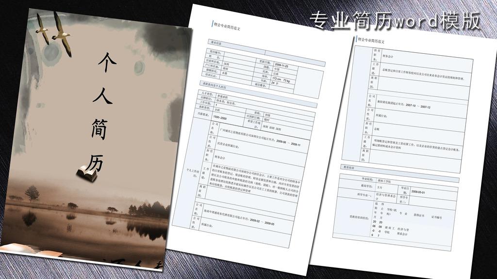 会计专业简历模板word下载