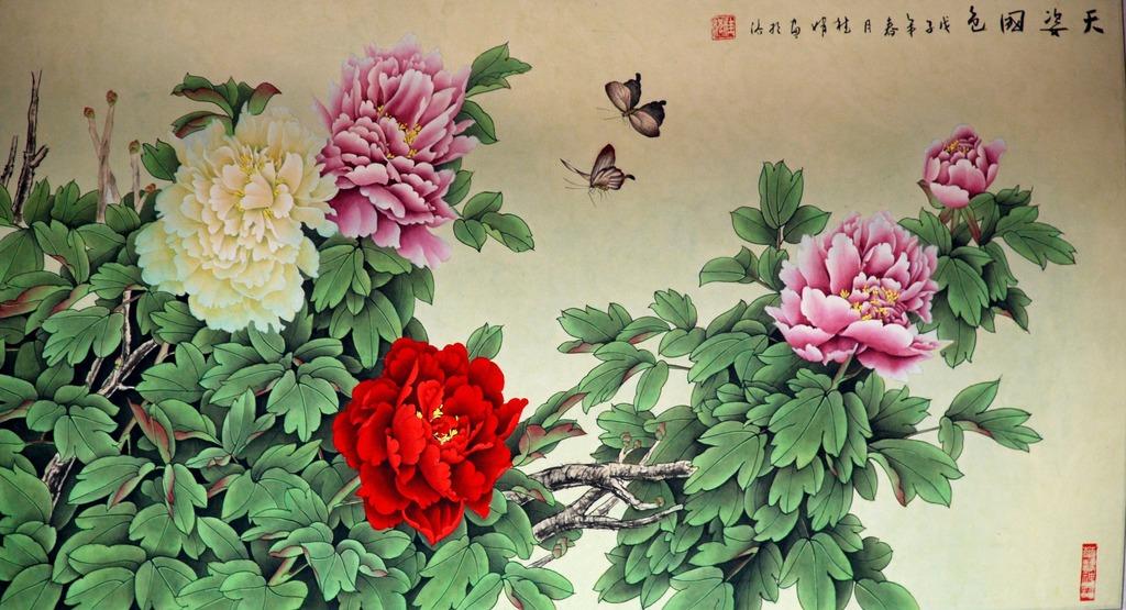 牡丹花天姿国色装饰画图片