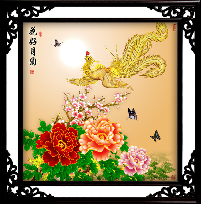 国画牡丹 国花牡丹