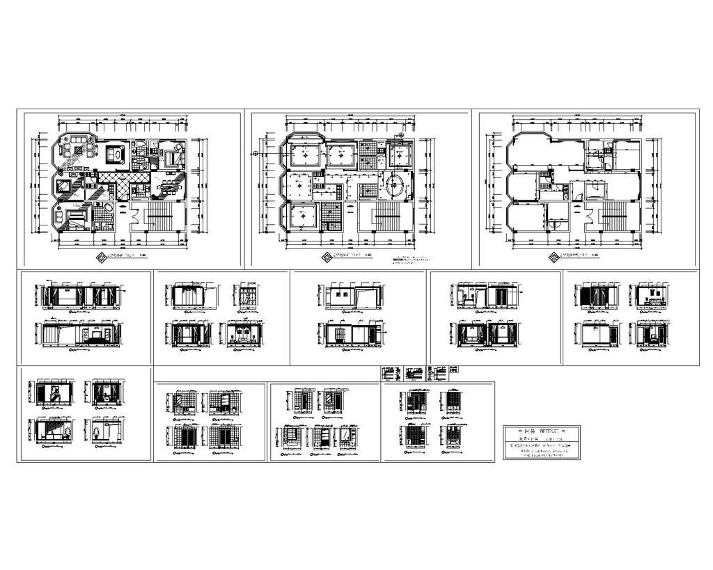 总统套房cad施工图模板下载(图片编号:12209331)