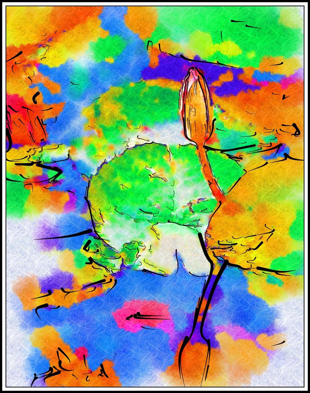 美术绘画 水彩抽象画