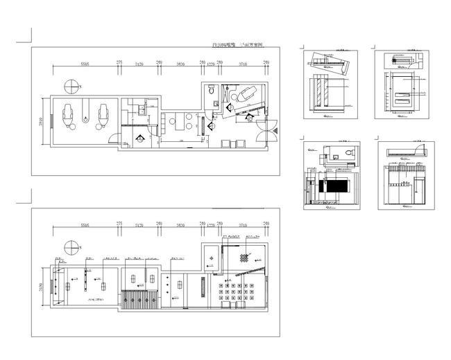 【】牙科诊所建筑装修图cad图纸设计下载
