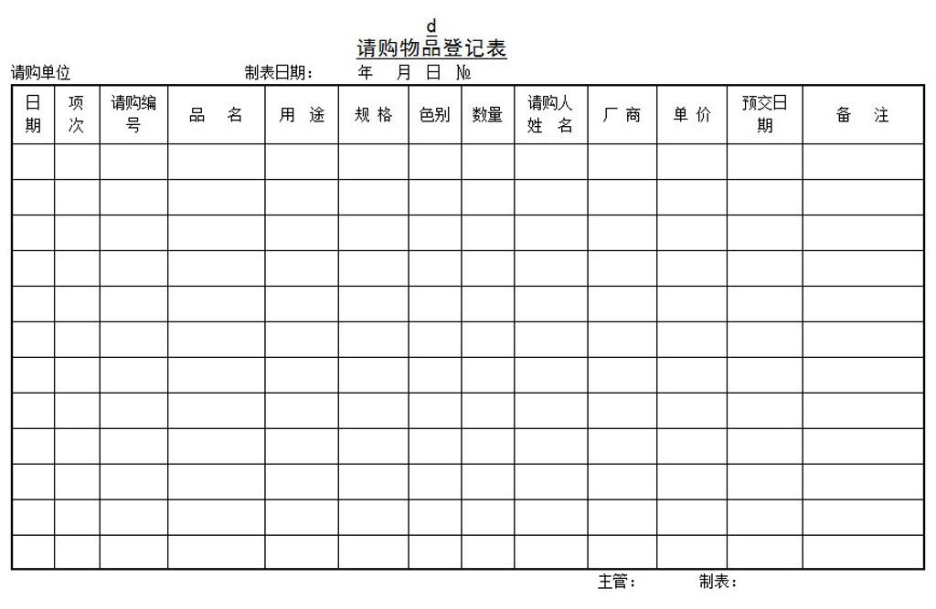 登记表模板-红鼎游戏外来文件管制表