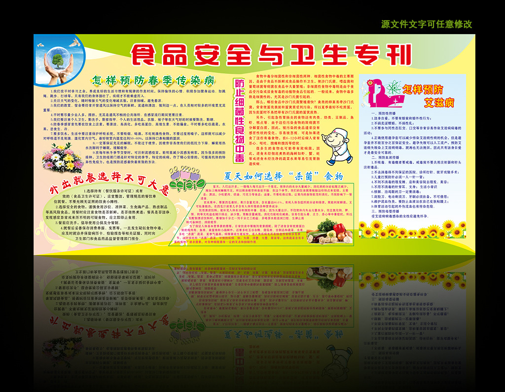 食品安全与卫生知识宣传海报展板