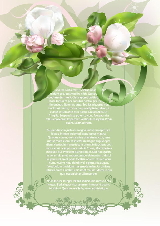 背景 花草/[版权图片]植物花草信纸背景